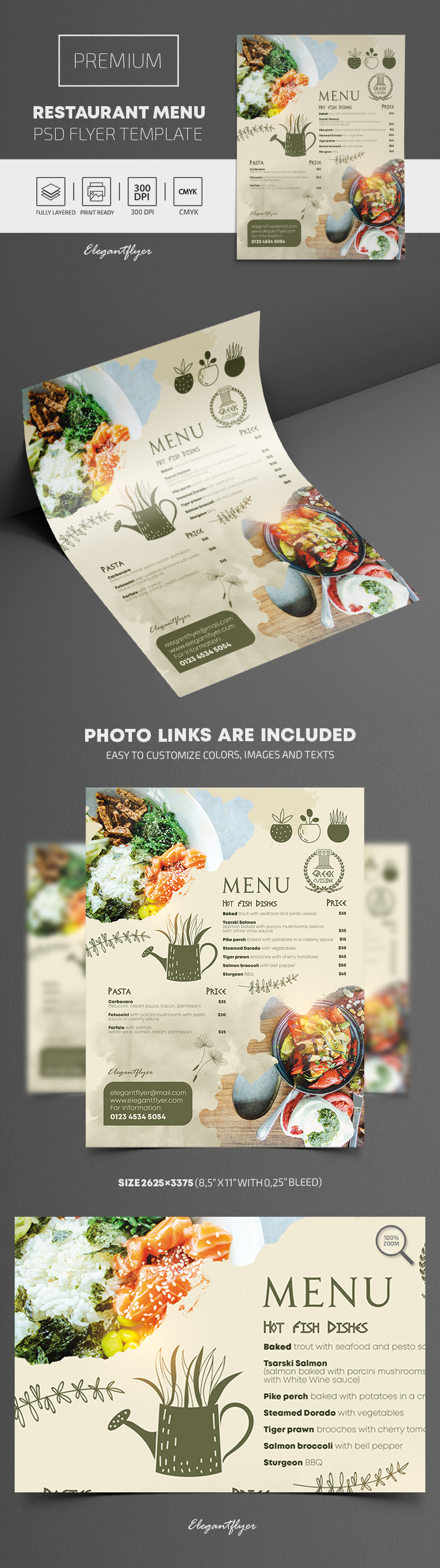 Restaurant Menu – Premium PSD Flyer Template