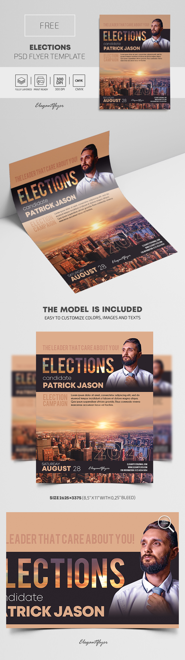Elections – Free PSD Flyer Template