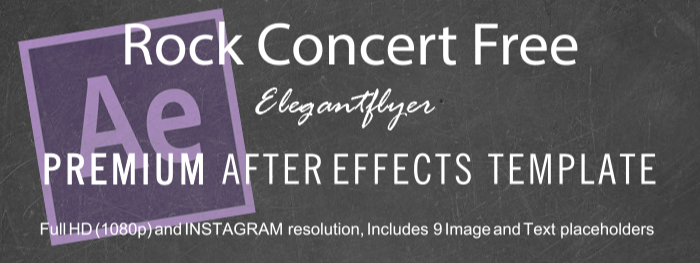 Rock Concert Free After Effects Template