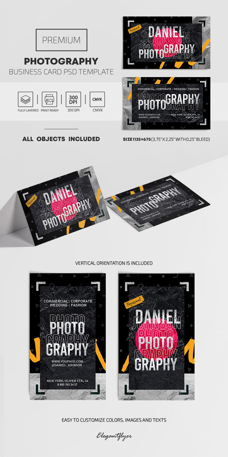 Photography – PSD Business Card Template