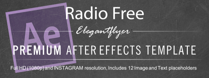 Radio Free After Effects Template
