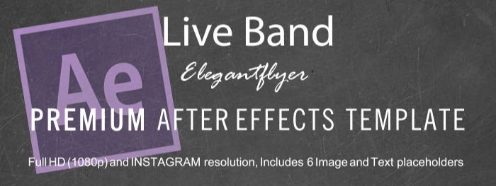 Live Band After Effects Template