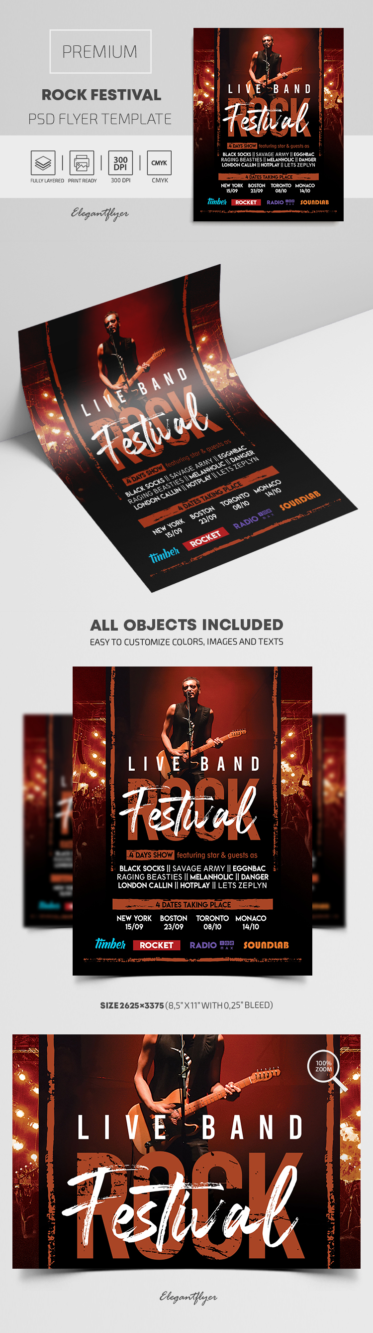 Rock Festival – Premium PSD Flyer Template