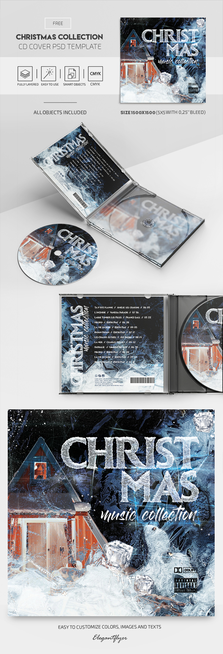 Christmas Collection – Free CD Cover PSD Template