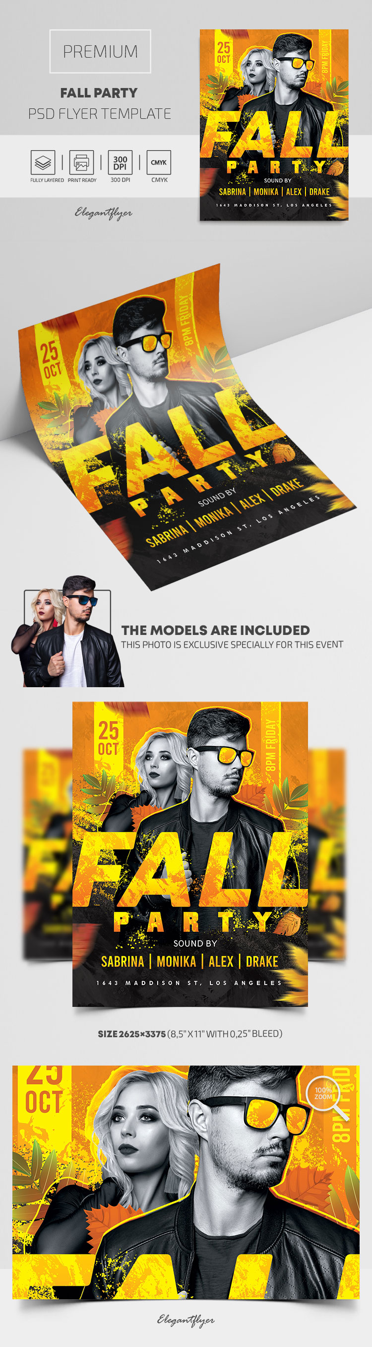 Fall Party – Premium PSD Flyer Template