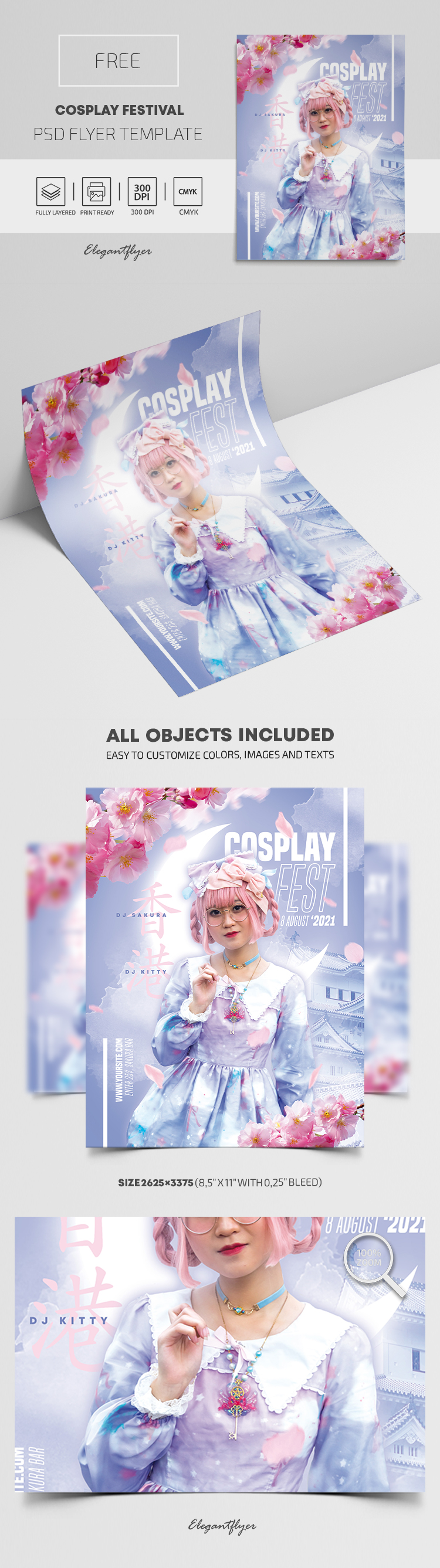 Cosplay Festival – Free Flyer PSD Template