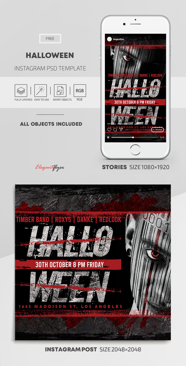 Halloween – Free Instagram Stories Template in PSD + Post Templates