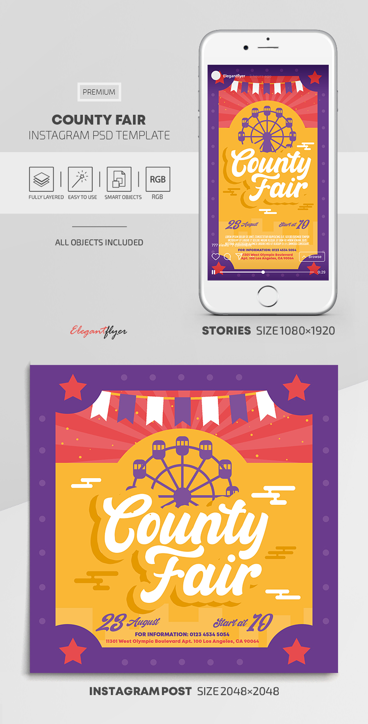 County Fair – Instagram Stories Template in PSD + Post Templates