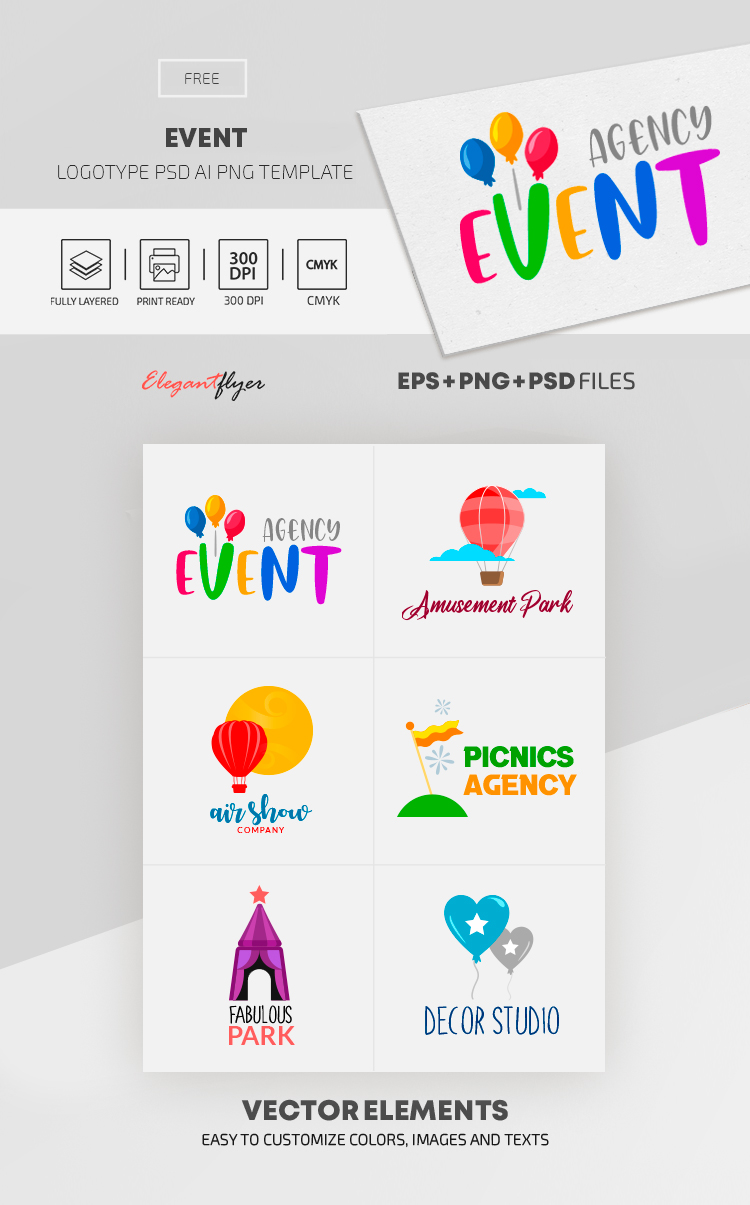 Event – Free EPS + PSD Logo Template