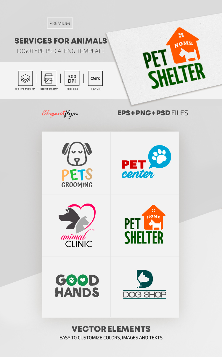 Services For Animals – Premium Logo Set
