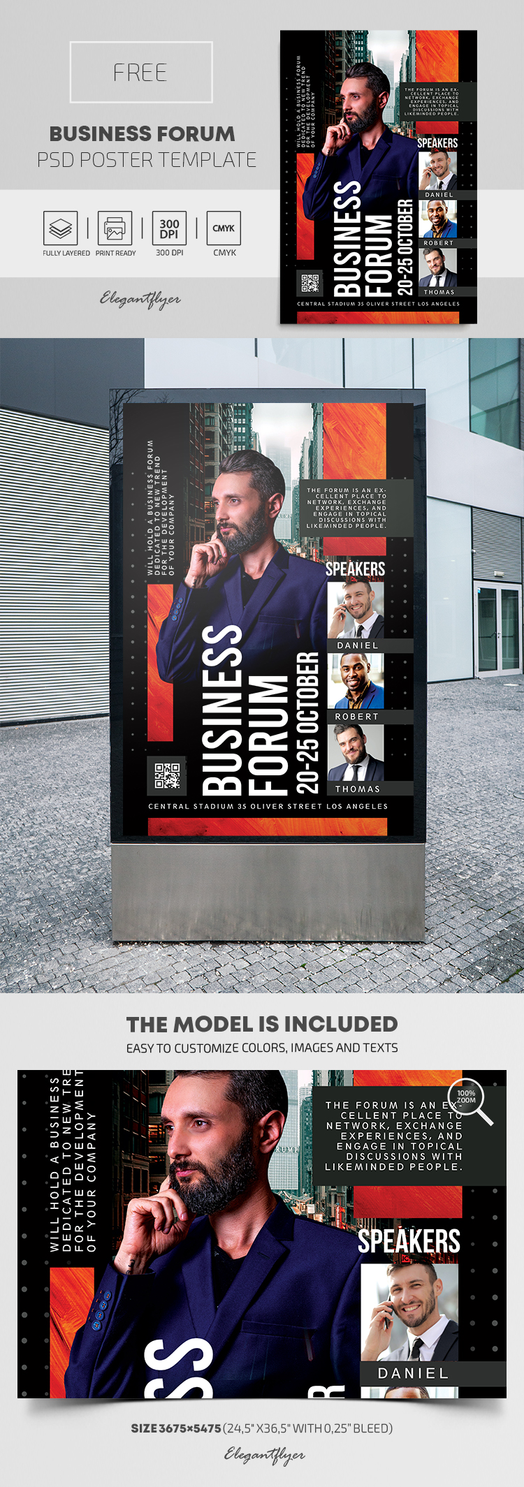 Business Forum – Free PSD Poster Template