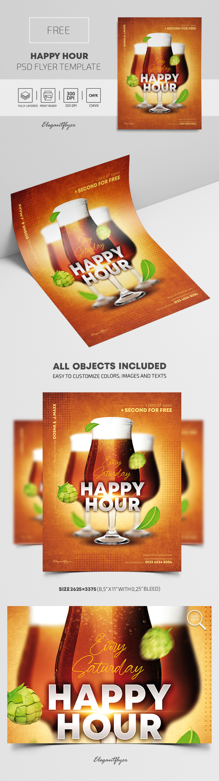Happy Hour – Free PSD Flyer Template