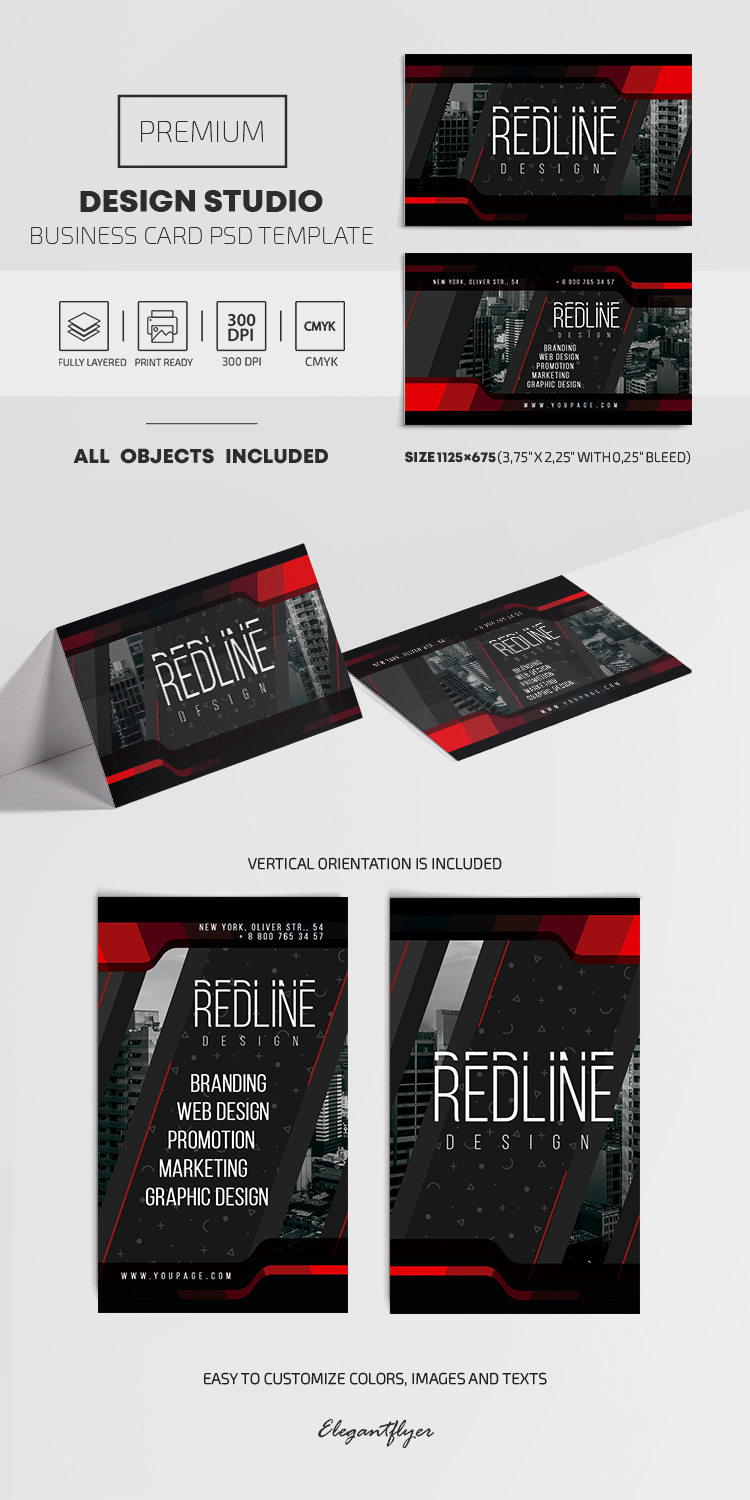 Design Studio – PSD Business Card Template
