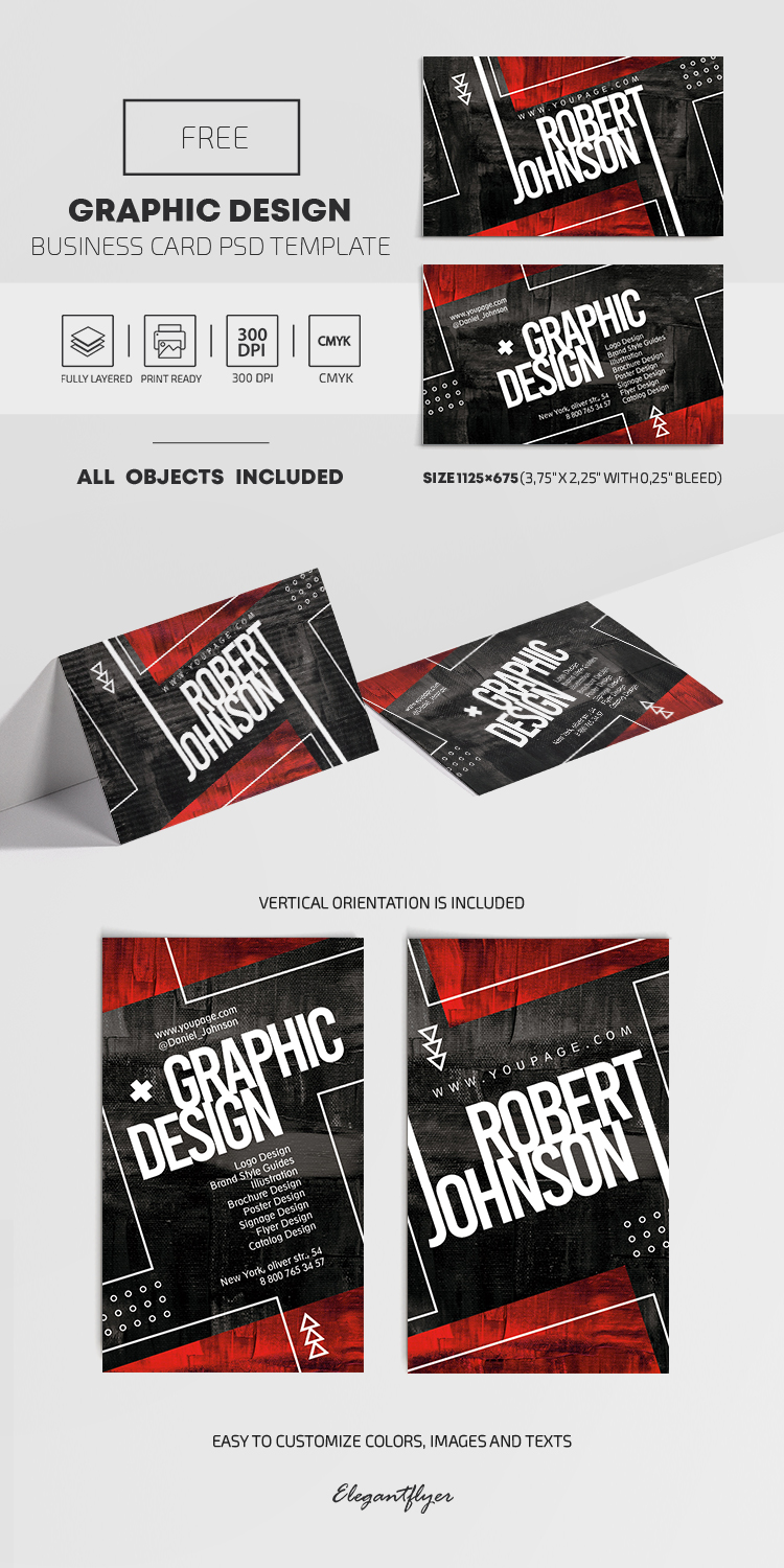 Free Graphic Design Business Card Template