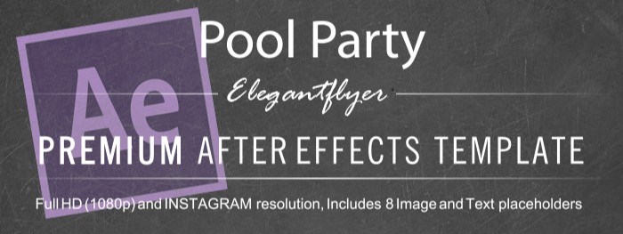 Pool Party After Effects Template