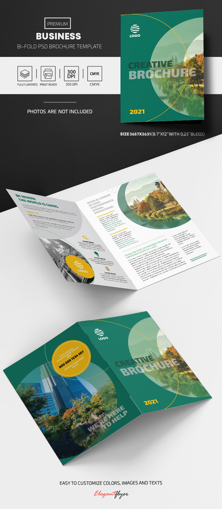 Business – Bi-Fold Brochure PSD Template
