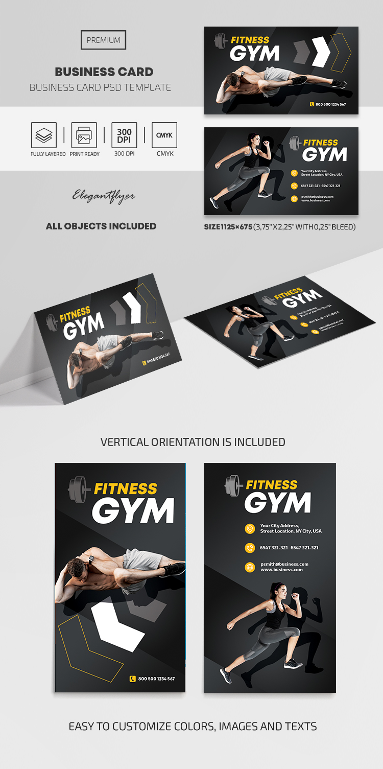 GYM – Business Card PSD Template