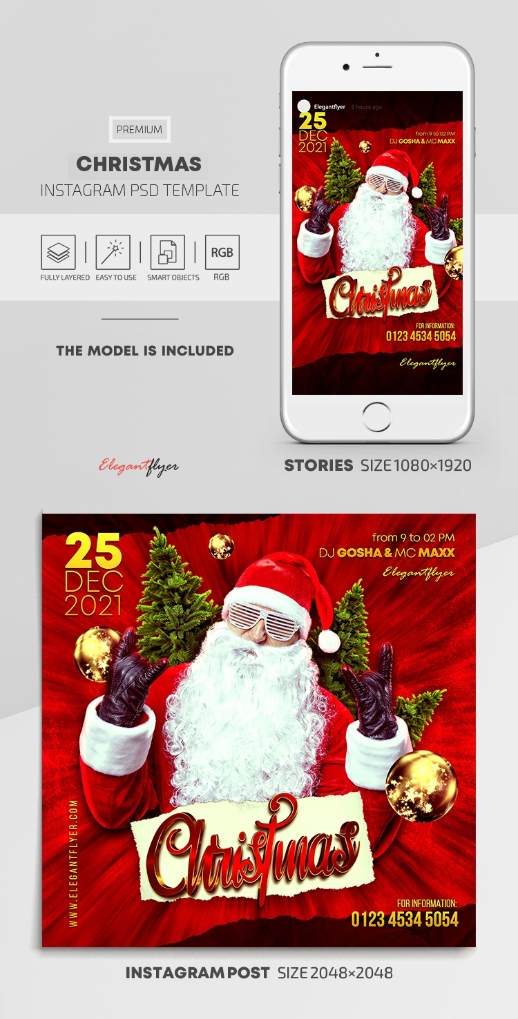 Christmas – Instagram Stories Template in PSD + Post Templates