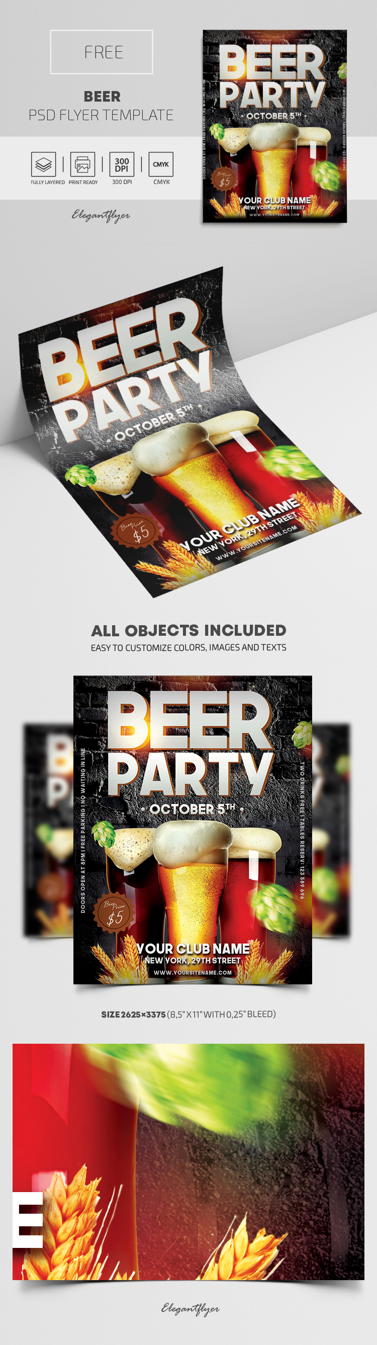 Beer – Free Flyer PSD Template