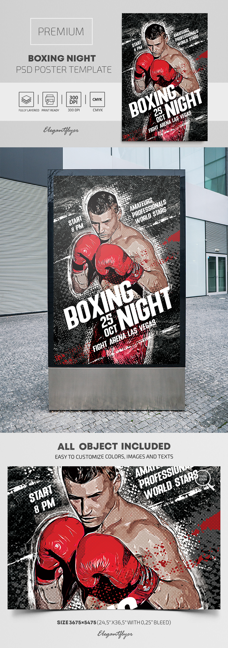 Boxing Night – Premium PSD Poster Template