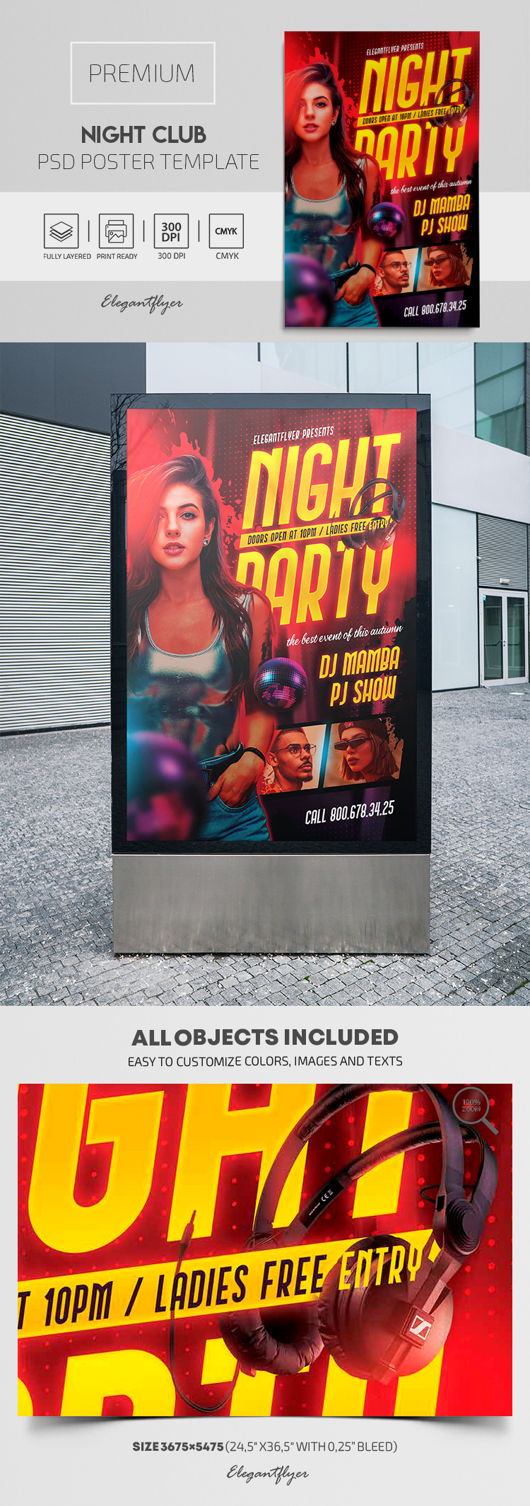 Night Club – Premium PSD Poster Template