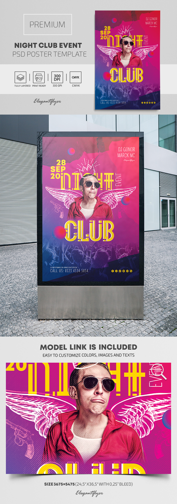 Night Club Event – Premium PSD Poster Template