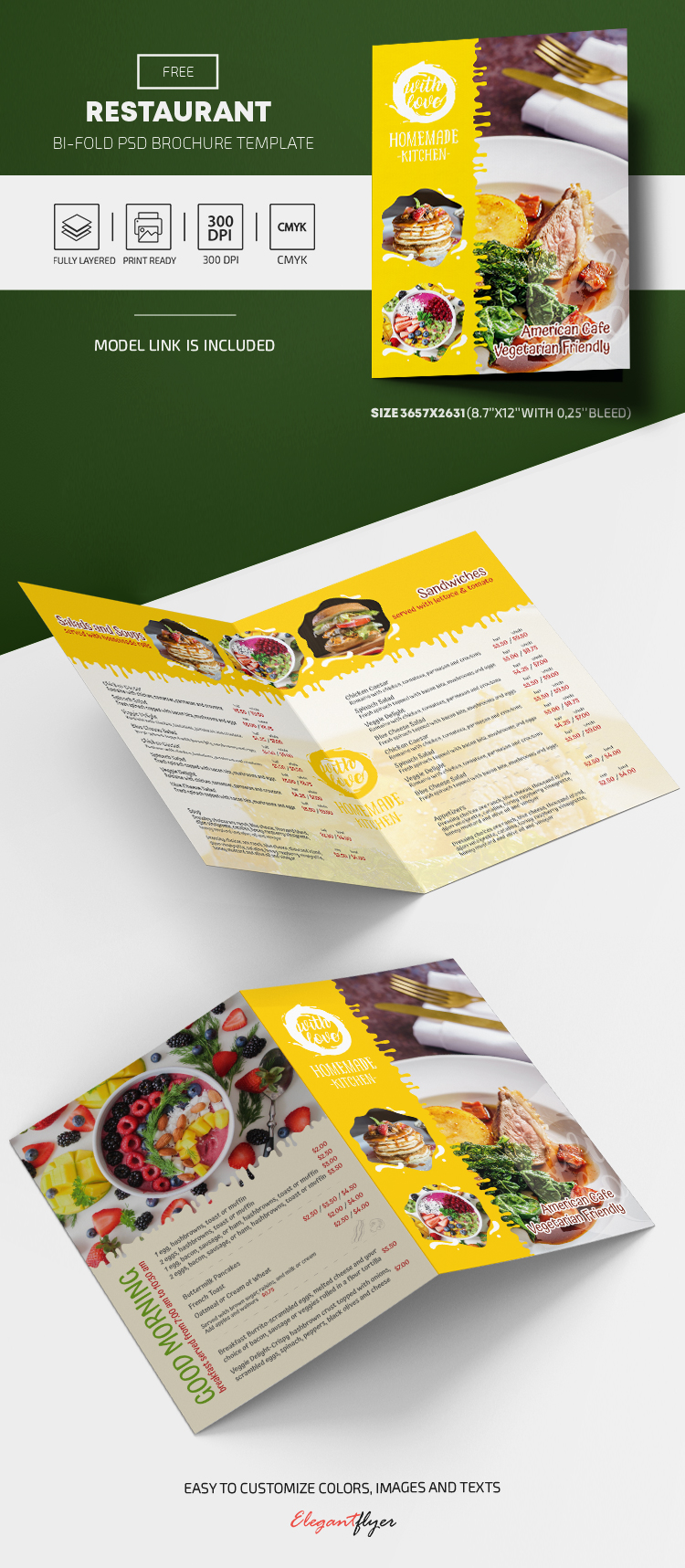 Free Restaurant Menu Template in PSD
