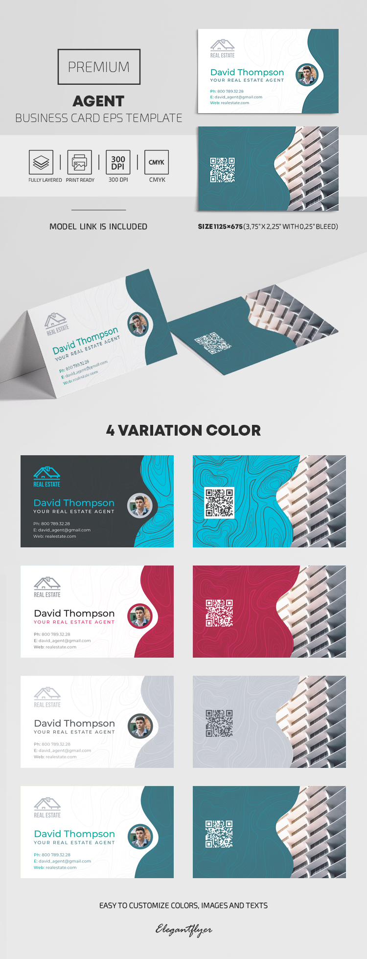 Agent – EPS Business Card Template