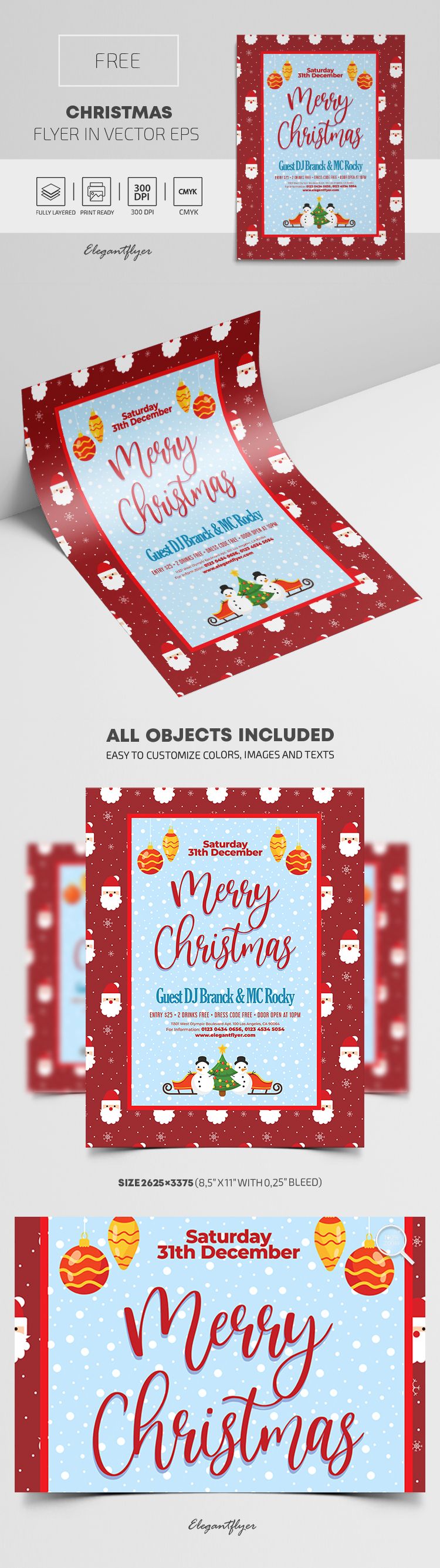 Christmas – Free Flyer EPS Template