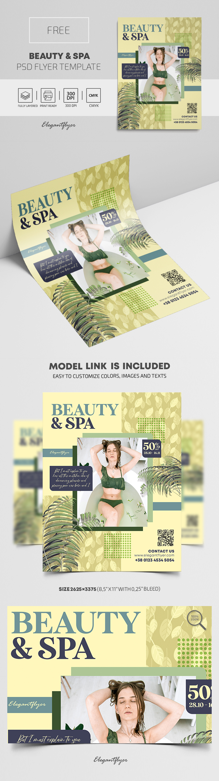 Beauty & Spa – Free Flyer PSD Template