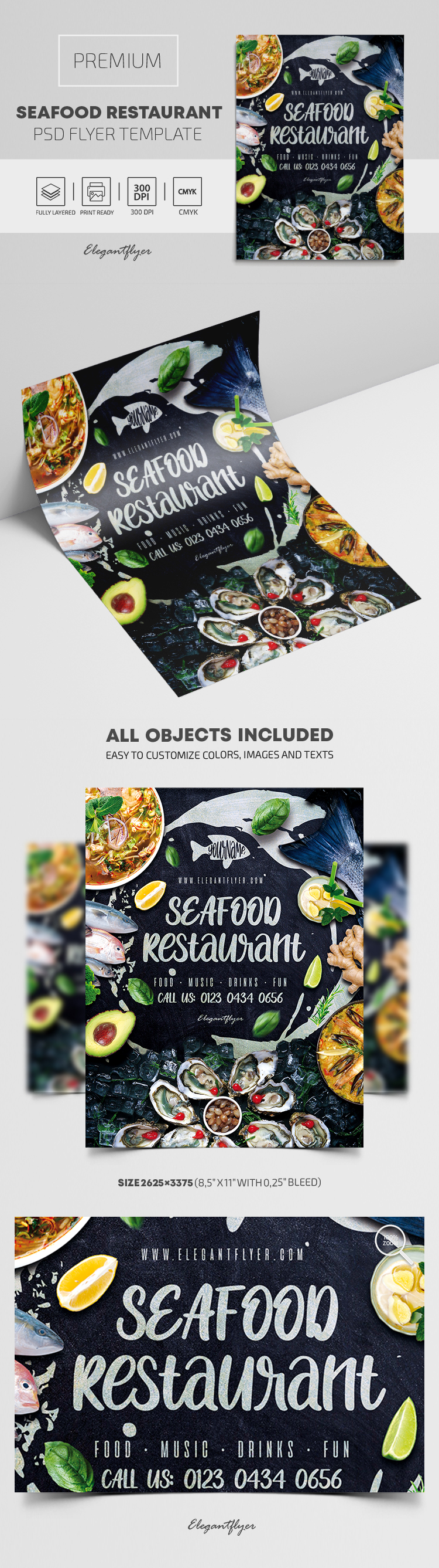 Seafood Restaurant – Premium PSD Flyer Template