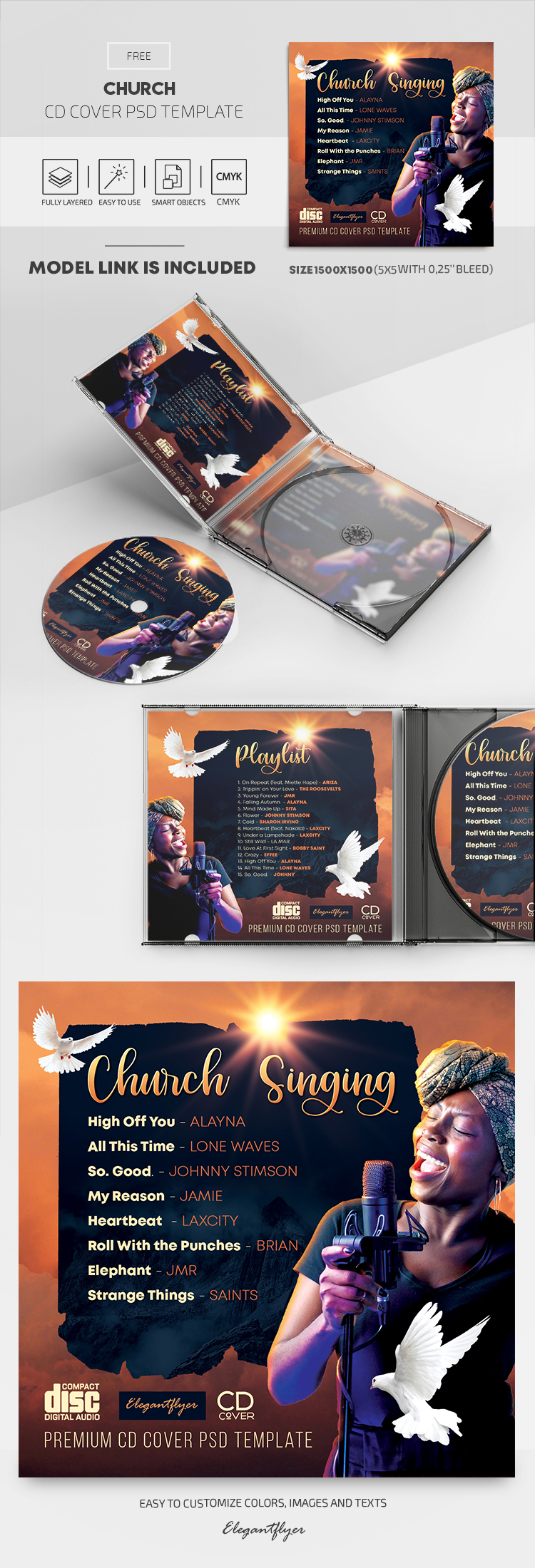 Church – Free CD Cover PSD Template