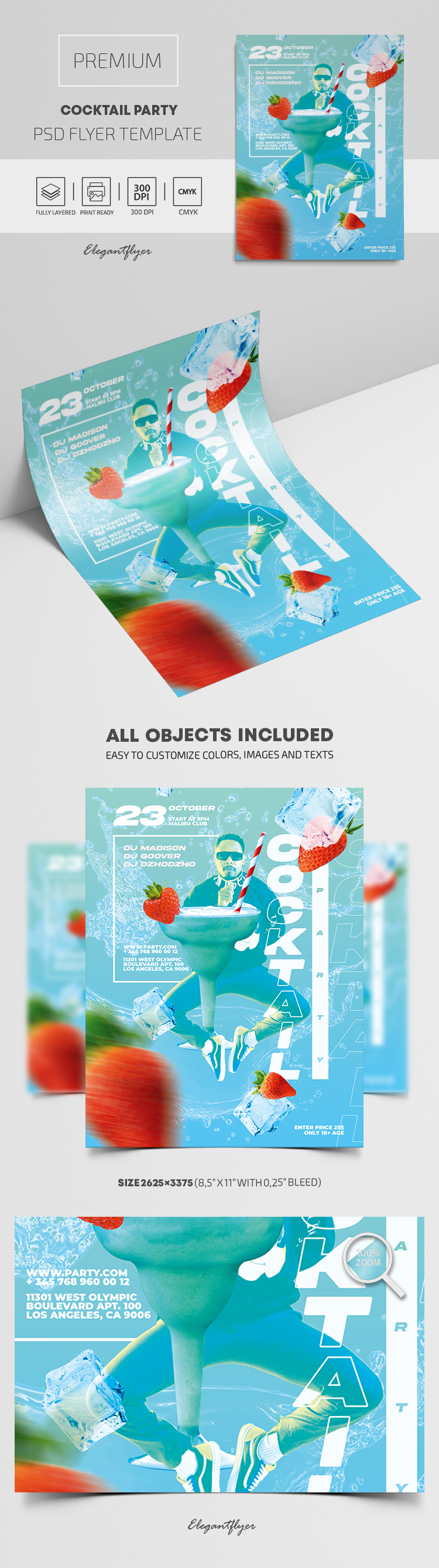 Cocktail Party – Premium PSD Flyer Template