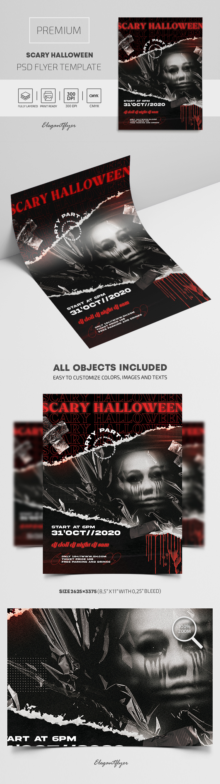 Scary Halloween – Premium PSD Flyer Template