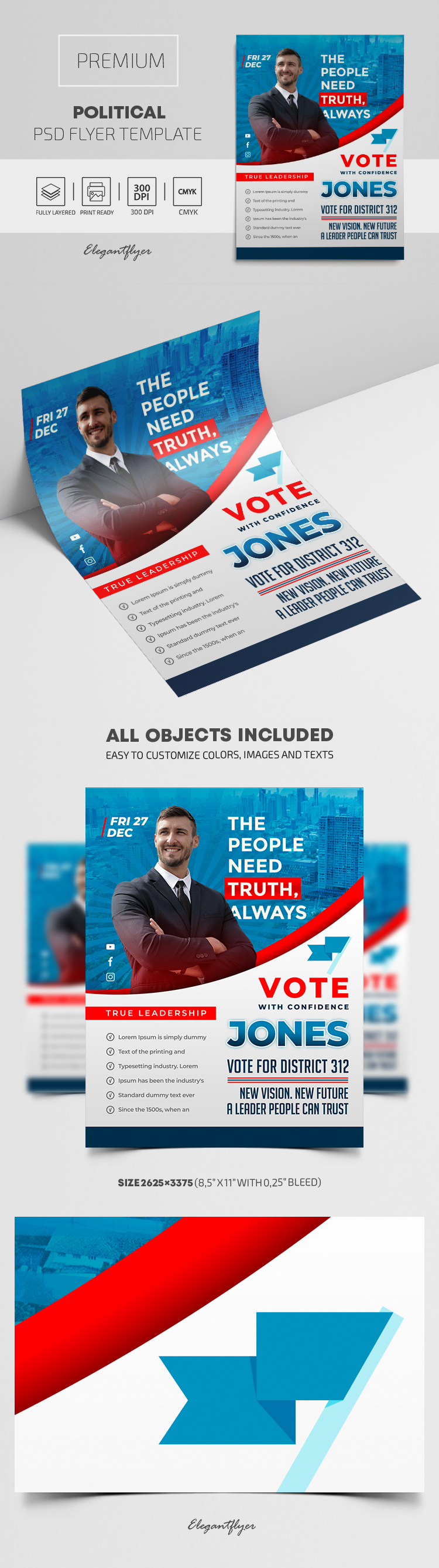 Political – Premium PSD Flyer Template