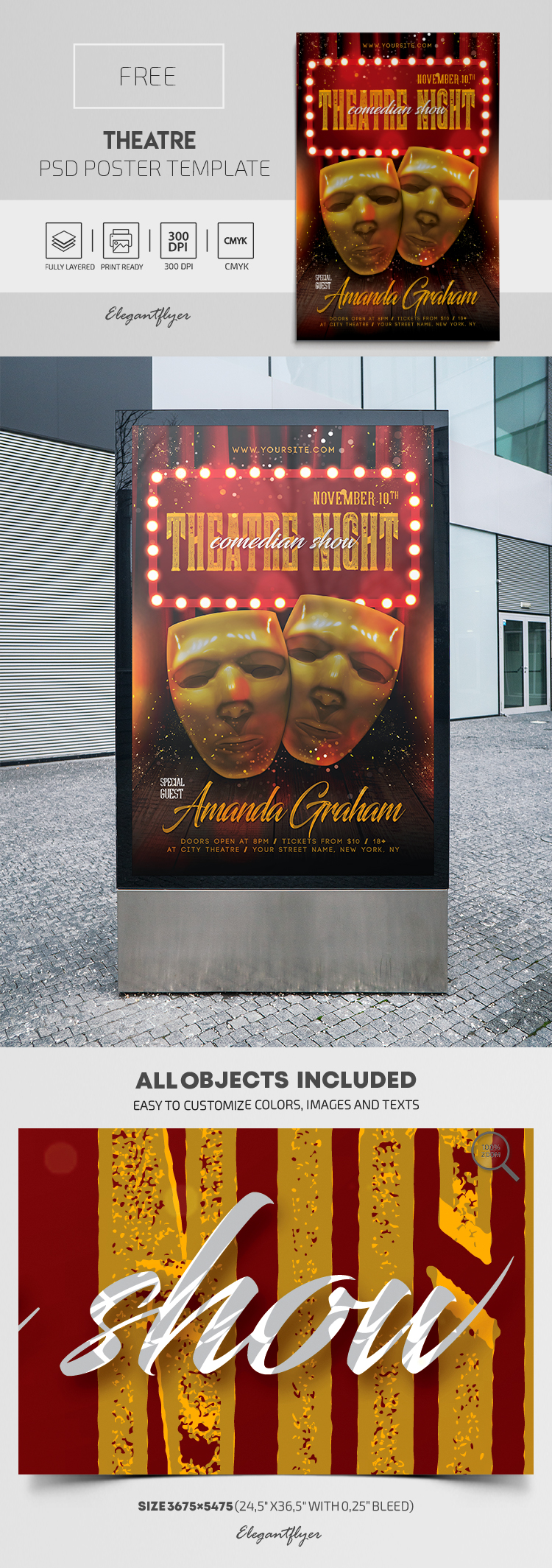 Theatre – Free PSD Poster Template