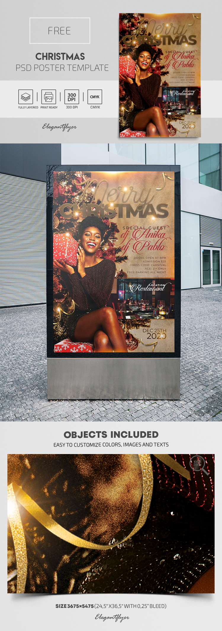 Christmas – Free PSD Poster Template