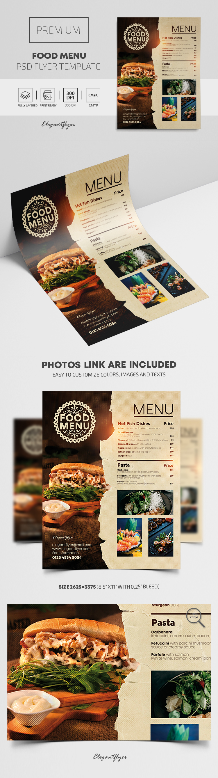 Food Menu – Premium PSD Flyer Template
