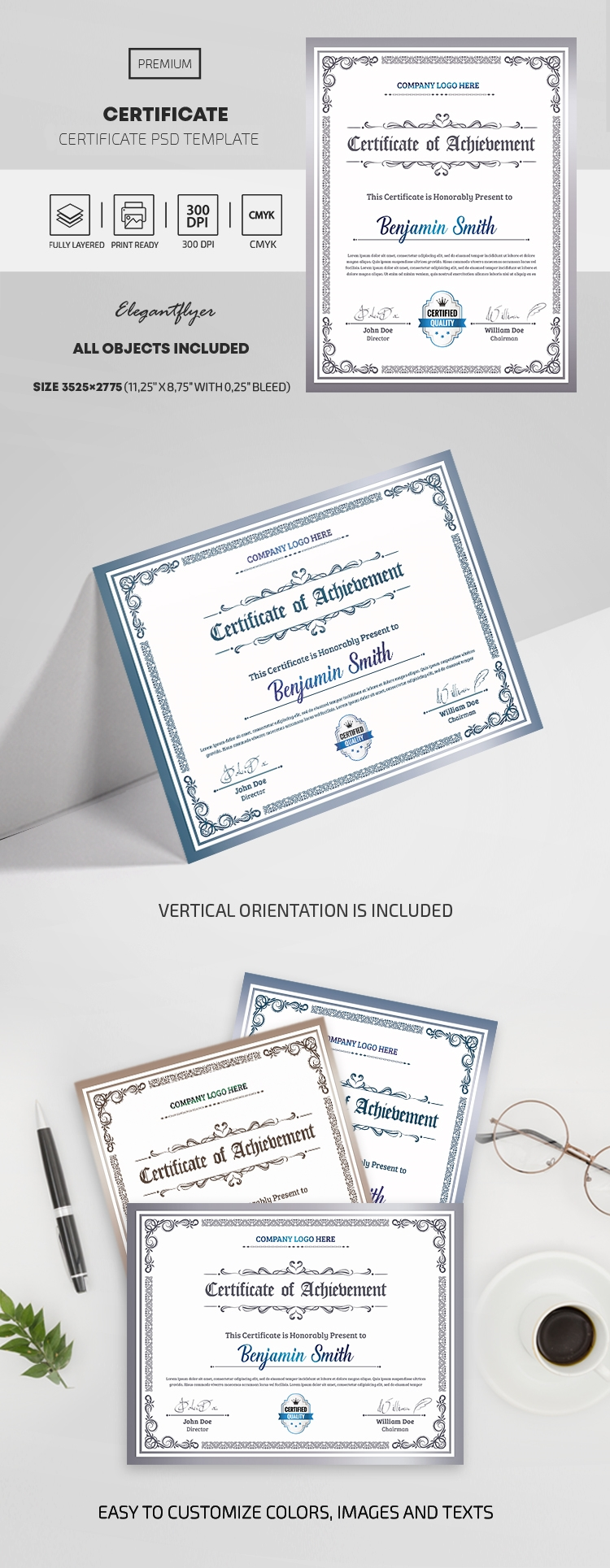 Certificate of Training PSD Template