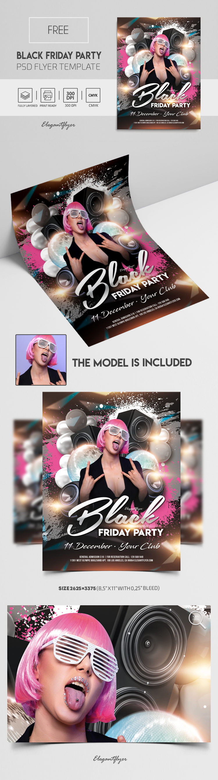 Black Friday Party – Free Flyer PSD Template