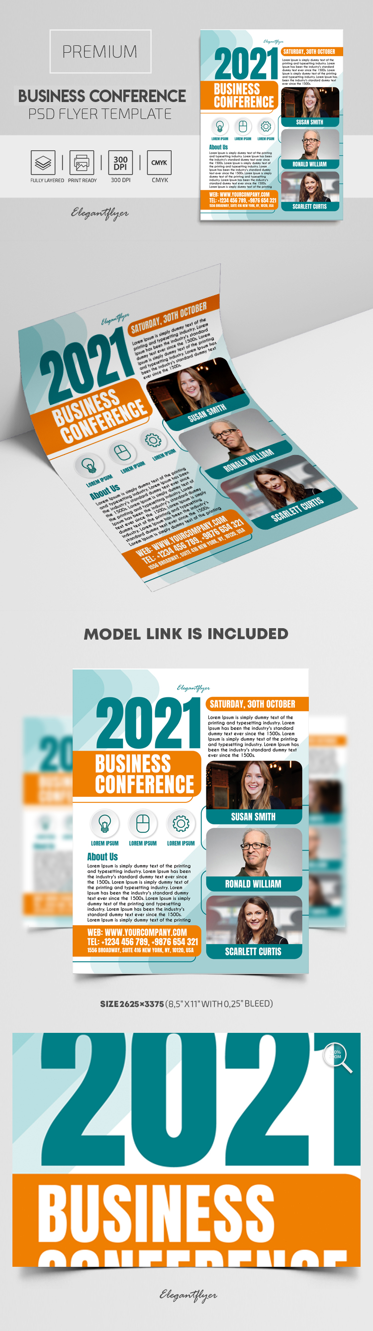 Business Conference – Premium PSD Flyer Template