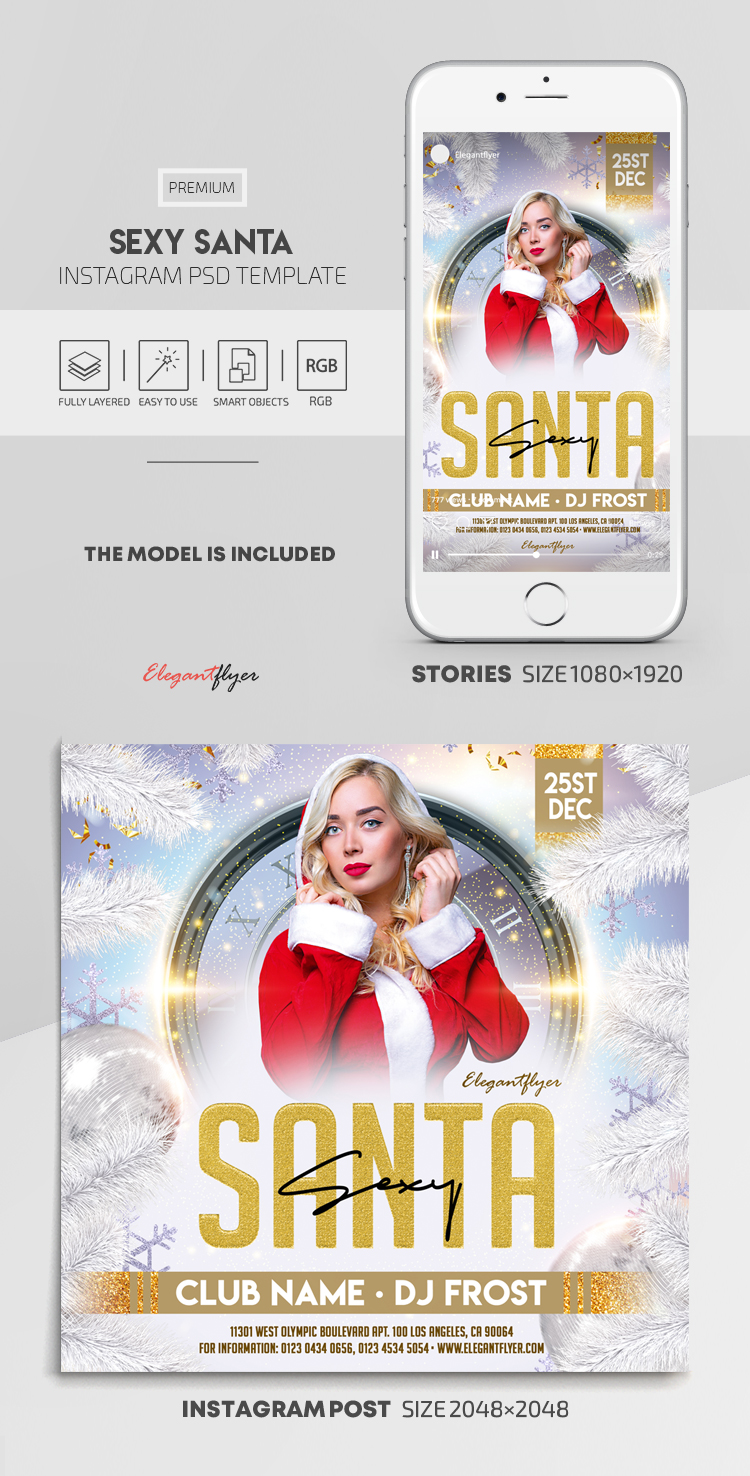 Sexy Santa – Instagram Stories Template in PSD + Post Templates