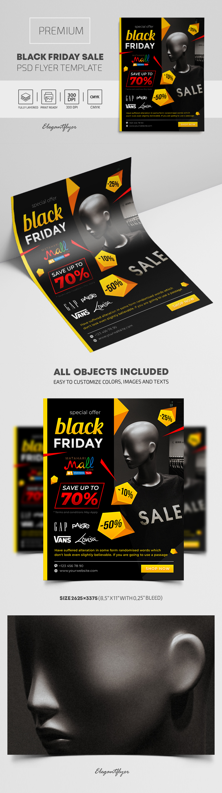 Black Friday Sales – Premium PSD Flyer Template