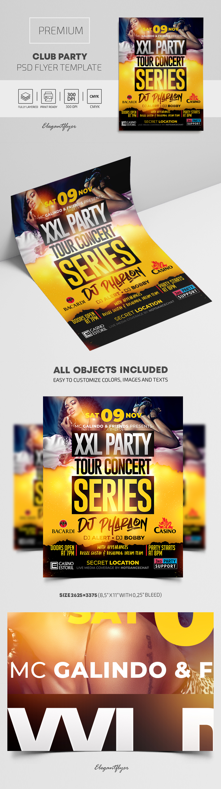 Club Party – Premium PSD Flyer Template