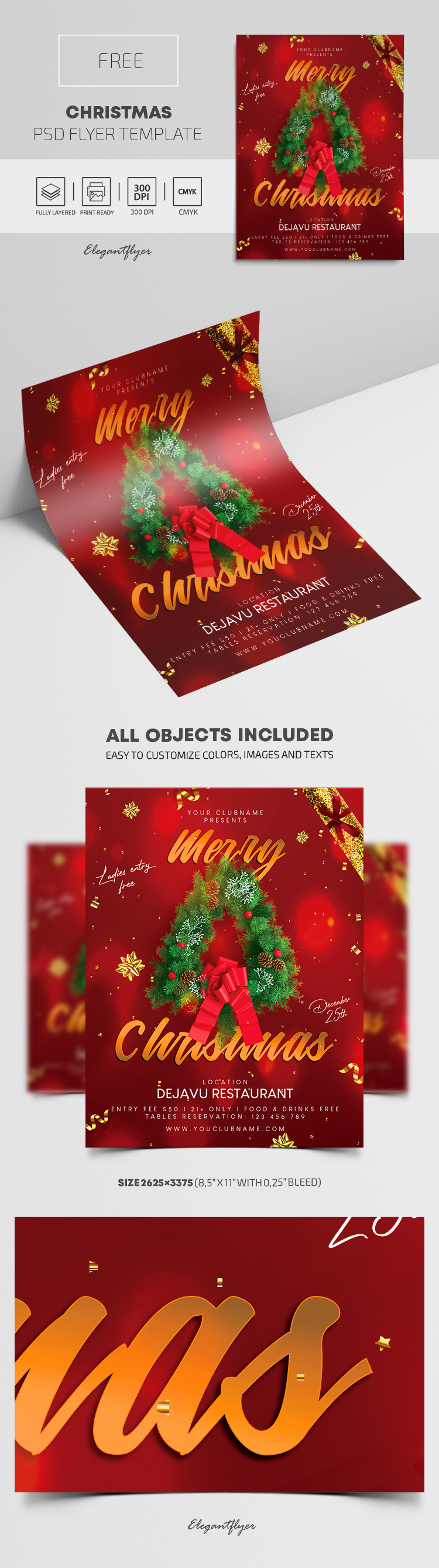 Christmas – Free Flyer PSD Template