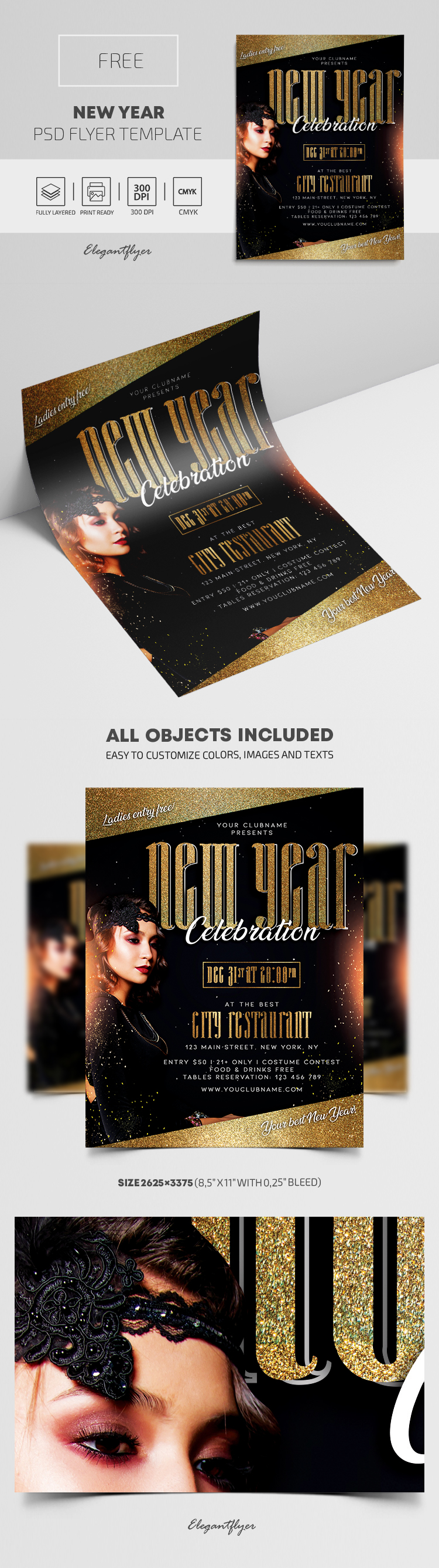 New Year – Free Flyer PSD Template