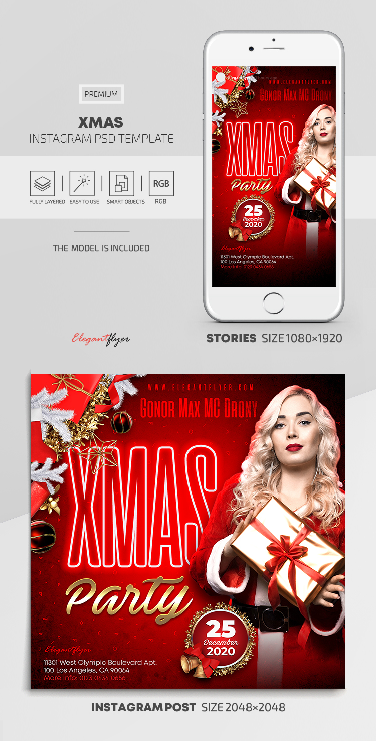 Xmas – Instagram Stories Template in PSD + Post Templates