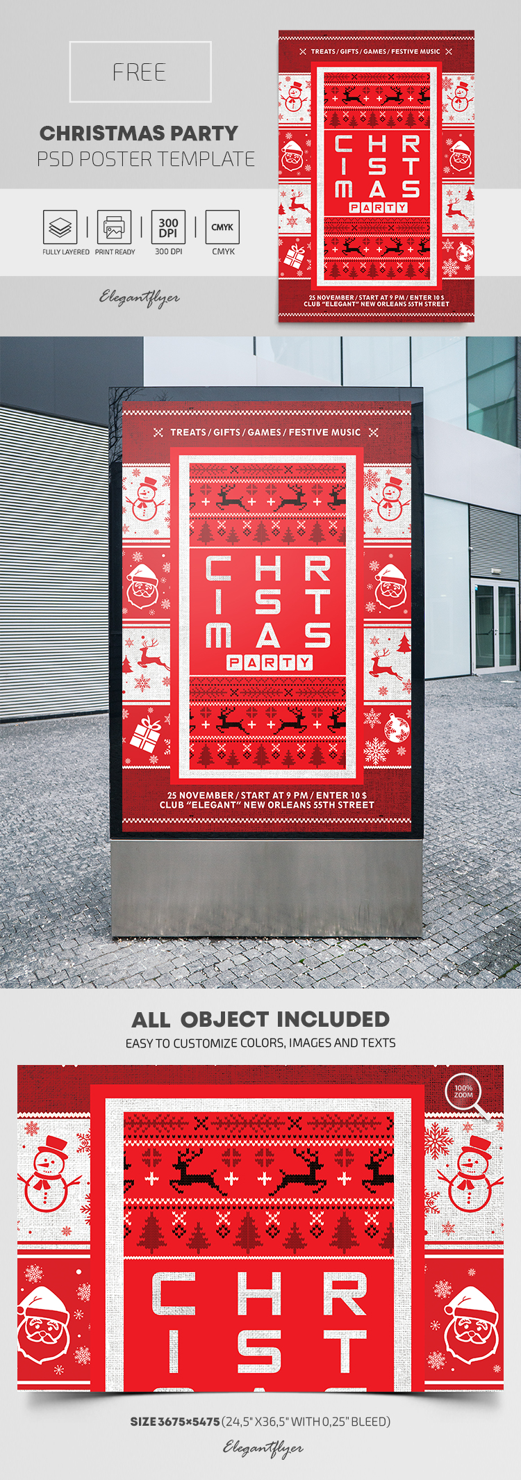 Christmas Party – Free PSD Poster Template
