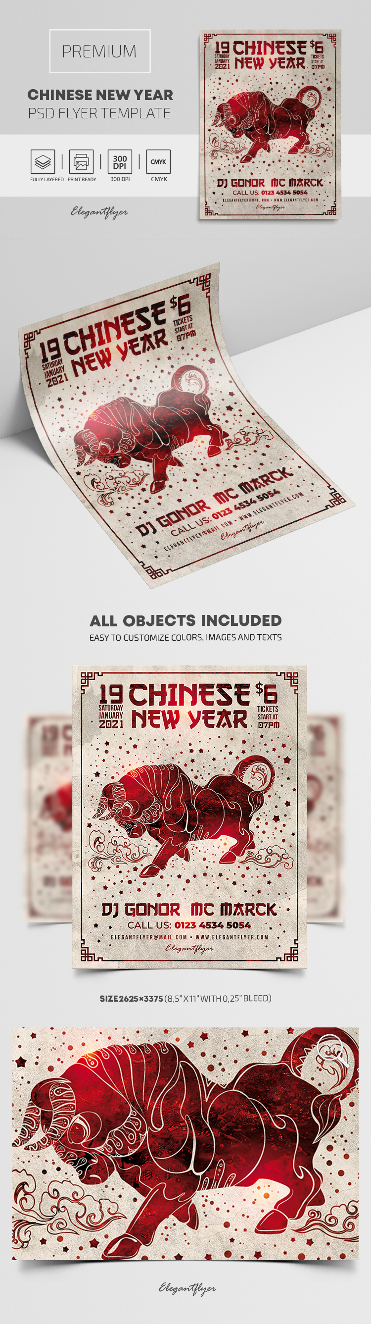 Chinese New Year – Premium PSD Flyer Template