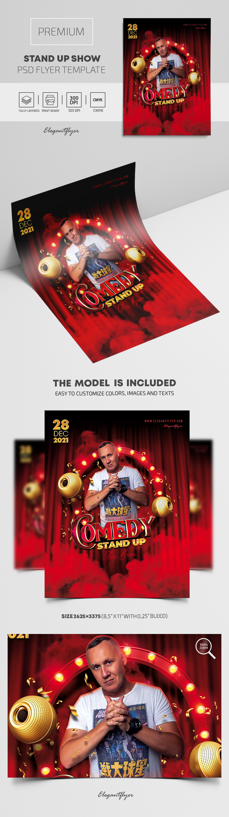 Stand Up Show – Premium PSD Flyer Template